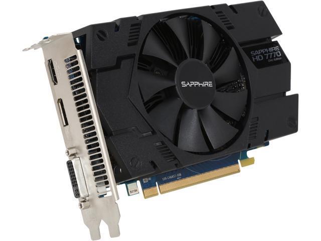 SAPPHIRE Radeon HD 7770 DirectX 11 11201-17CPO 1GB 128-Bit GDDR5 PCI Express 3.0 CrossFireX Support Video Card
