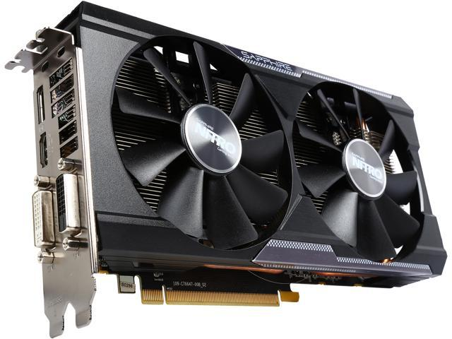 Sapphire Radeon NITRO R9 380 4GB GDDR5 DL-DVI-I / DL-DVI-D / HDMI / DP Dual-X OC (UEFI) PCI-E Graphics Card 11242-07-20G