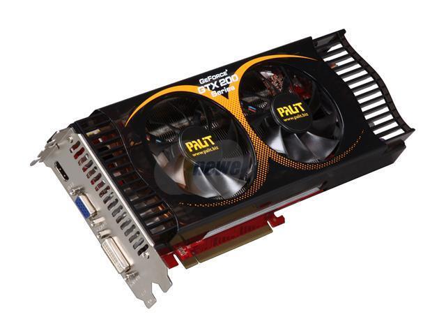 Palit GeForce GTX 275 DirectX 10 NE3TX275FHD94 896MB 448-Bit GDDR3 PCI Express 2.0 x16 HDCP Ready SLI Support Video Card