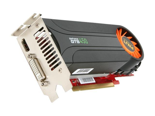 Palit GTS GeForce GTS 450 (Fermi) DirectX 11 NE5S4500F0601 1GB 128-Bit GDDR5 PCI Express 2.0 x16 HDCP Ready Low Profile Ready Video Card