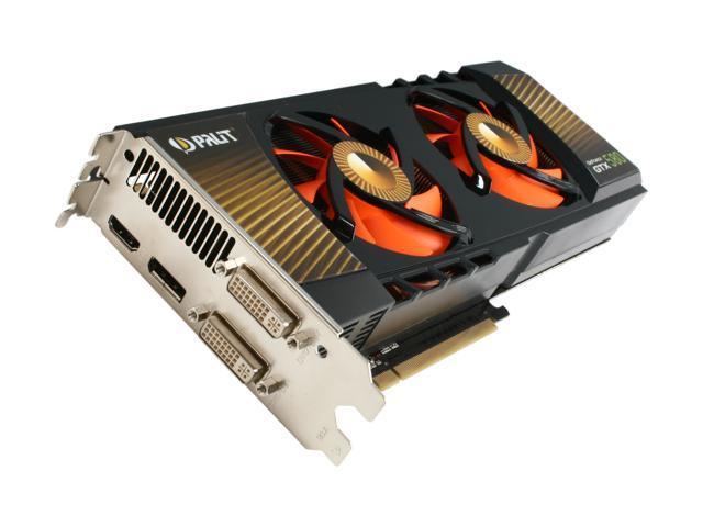 Palit GeForce GTX 580 (Fermi) DirectX 11 NE5X5800F10FB 3072MB 384-Bit GDDR5 PCI Express 2.0 x16 HDCP Ready SLI Support Video Card