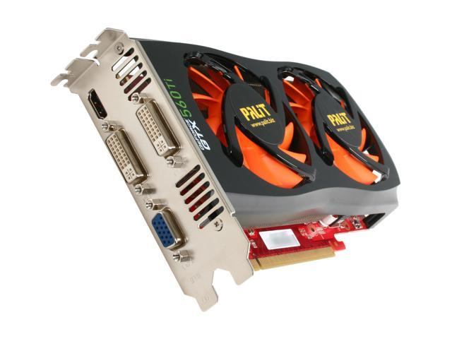 Palit NE5X56TS1102-1140F GeForce GTX 560 Ti (Fermi) SONIC 1GB 256-bit GDDR5 PCI Express 2.0 x16 HDCP Ready SLI Support Video Card
