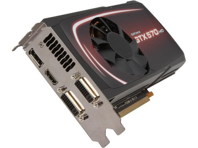 EVGA GeForce GTX 570 (Fermi) DirectX 11 025-P3-1579-RB Video Card