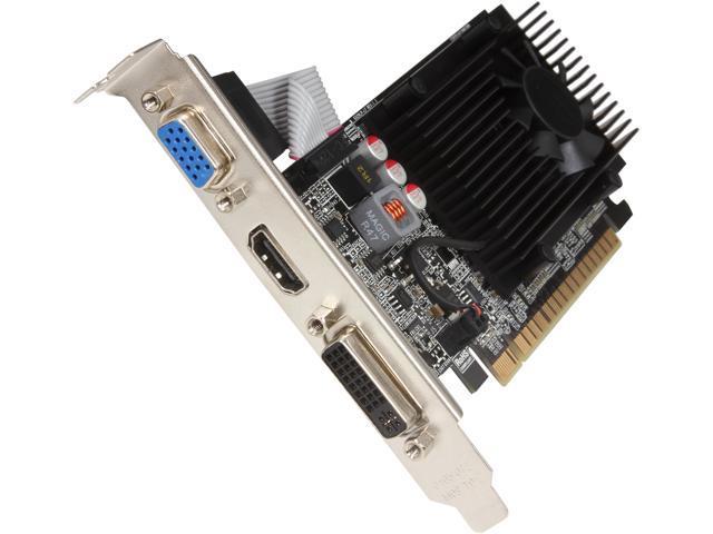 EVGA GeForce GT 520 (Fermi) DirectX 11 01G-P3-1525-RX 1GB 64-Bit DDR3 PCI Express 2.0 HDCP Ready Video Card