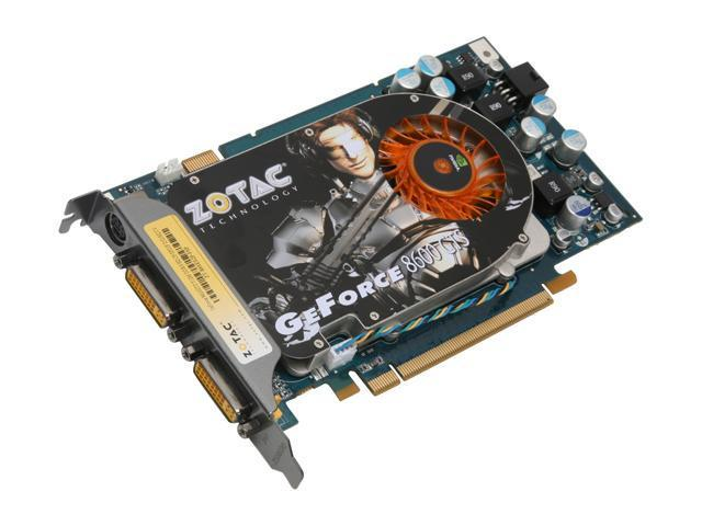 ZOTAC GeForce 8600 GTS DirectX 10 ZT-86SES2P-FSP 512MB 128-Bit GDDR3 PCI Express x16 HDCP Ready SLI Support Video Card