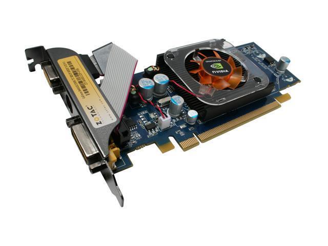 ZOTAC GeForce 8400 GS DirectX 10 ZT-84SEG2P-FSR 256MB 64-Bit GDDR2 PCI Express x16 HDCP Ready Video Card