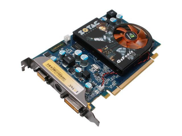 ZOTAC XLR8 GeForce 8500 GT DirectX 10 ZT-85TEH2P-FSR 512MB 128-Bit GDDR2 PCI Express x16 HDCP Ready Video Card