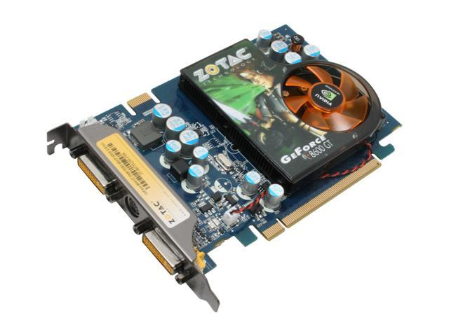 ZOTAC GeForce 8600 GT DirectX 10 ZT-86TEQ3P-FSR 256MB 128-Bit GDDR3 PCI Express x16 HDCP Ready SLI Support Video Card
