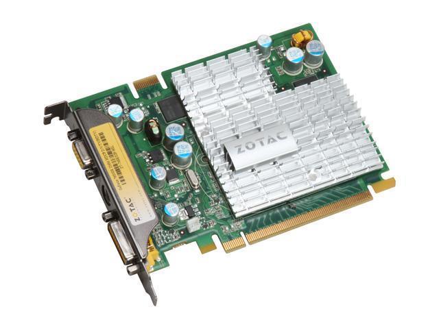 ZOTAC GeForce 7600GS DirectX 9 ZT-76SEG2P-HSL 256MB 128-Bit GDDR2 PCI Express x16 HDCP Ready SLI Support Video Card