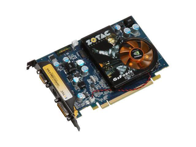 ZOTAC GeForce 8500 GT DirectX 10 ZT-85TEK2P-FSL 1GB 128-Bit GDDR2 PCI Express x16 HDCP Ready Video Card