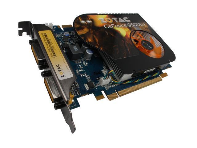 ZOTAC GeForce 9500 GT DirectX 10 ZT-95TEH2P-FSR 512MB 128-Bit GDDR2 PCI Express 2.0 x16 HDCP Ready SLI Support Video Card