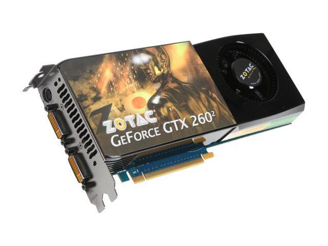 ZOTAC GeForce GTX 260 DirectX 10 ZT-X26E3KD-FSP 896MB 448-Bit GDDR3 PCI Express 2.0 x16 HDCP Ready SLI Support Video Card
