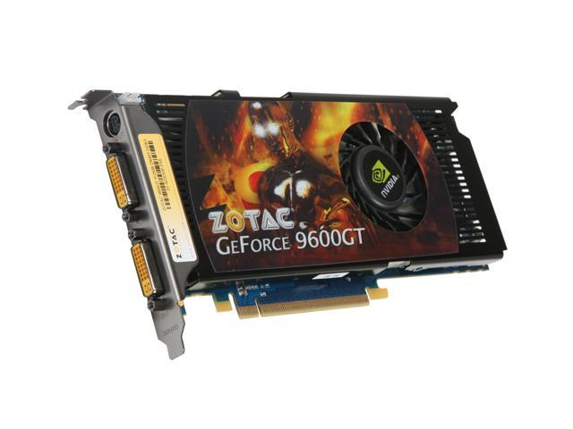 ZOTAC GeForce 9600 GT DirectX 10 ZT-96TES3P-FSR 512MB 256-Bit GDDR3 PCI Express 2.0 x16 HDCP Ready SLI Support Video Card