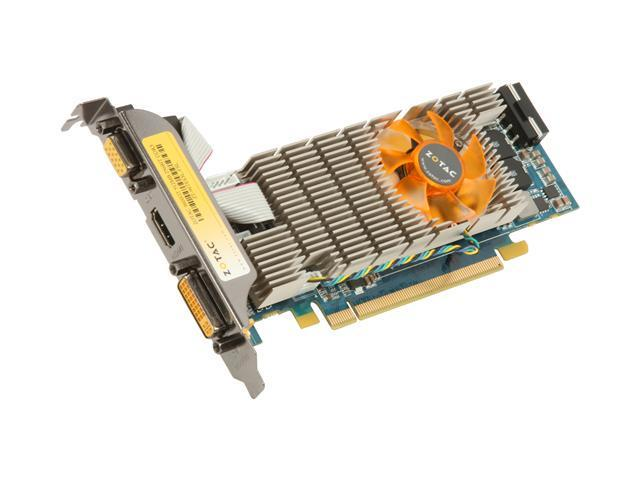 ZOTAC GeForce 9600 GT DirectX 10 ZT-96TES3L-FSL 512MB 256-Bit GDDR3 PCI Express 2.0 x16 HDCP Ready Low Profile Ready Video Card