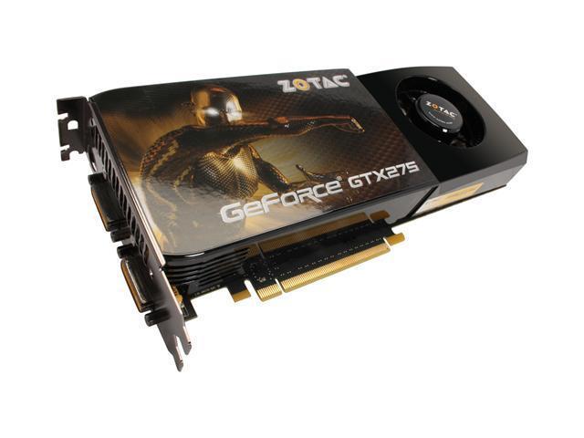 ZOTAC GeForce GTX 275 DirectX 10 ZT-275E3KB-FSP Video Card
