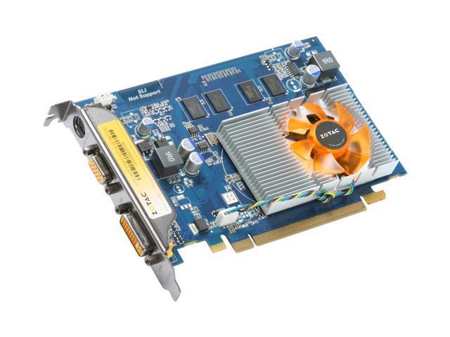 ZOTAC GeForce 9400 GT DirectX 10 ZT-94TEK3P-FDR Video Card