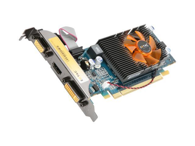 ZOTAC GeForce 210 DirectX 10.1 ZT-20301-10L 512MB 64-Bit DDR2 PCI Express 2.0 x16 HDCP Ready Low Profile Ready Video Card