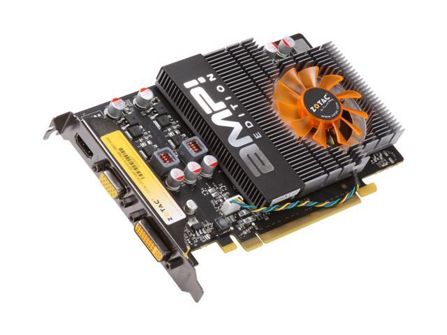 ZOTAC AMP! GeForce GT 240 DirectX 10.1 ZT-20405-10L Video Card