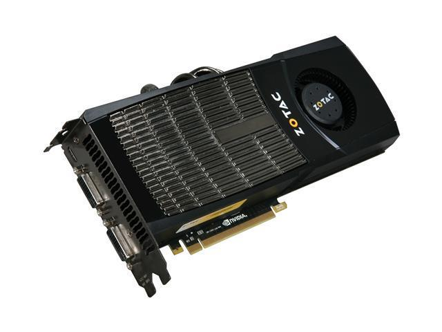 ZOTAC GTX GeForce GTX 480 (Fermi) DirectX 11 ZT-40101-10P 1536MB 384-Bit GDDR5 PCI Express 2.0 x16 HDCP Ready SLI Support Video Card