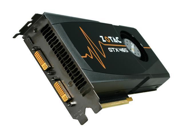 ZOTAC GeForce GTX 465 (Fermi) DirectX 11 ZT-40301-10P Video Card
