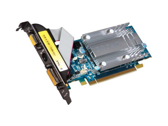 ZOTAC GeForce 7200GS DirectX 9 ZT-72SEG7N-HSL 256MB (512MB TurboCache) 64-Bit GDDR2 PCI Express x16 HDCP Ready Video Card