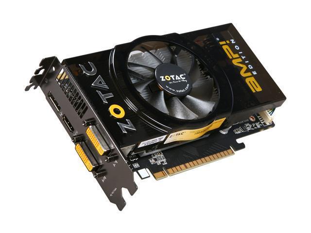 ZOTAC AMP! GeForce GTS 450 (Fermi) DirectX 11 ZT-40502-10L 1GB 128-Bit GDDR5 PCI Express 2.0 x16 HDCP Ready SLI Support Video Card