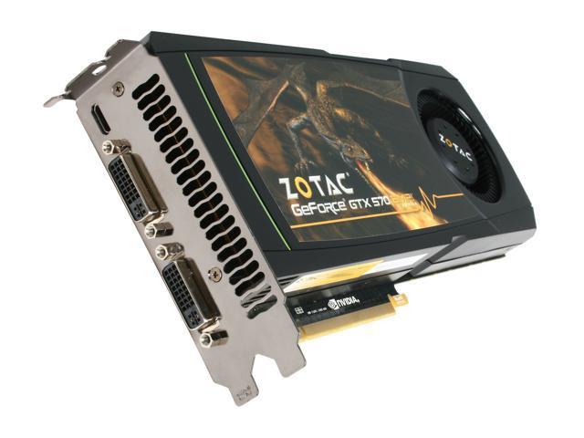 ZOTAC AMP! GeForce GTX 570 (Fermi) DirectX 11 ZT-50202-10P Video Card