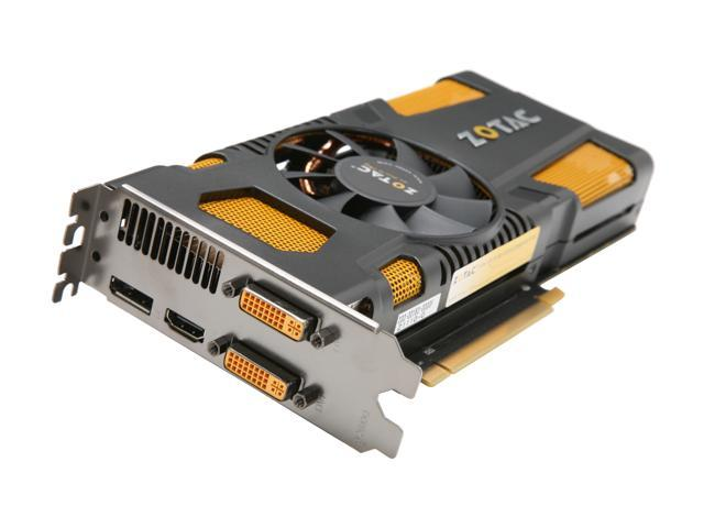 ZOTAC AMP! GeForce GTX 570 (Fermi) DirectX 11 ZT-50204-10M 1280MB 320-Bit GDDR5 PCI Express 2.0 x16 HDCP Ready SLI Support Video Card