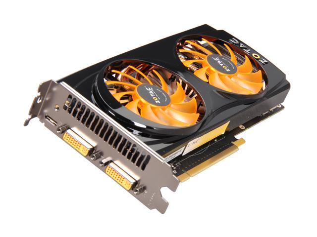 ZOTAC AMP! GeForce GTX 560 (Fermi) DirectX 11 ZT-50702-10M 1GB 256-Bit GDDR5 PCI Express 2.0 x16 HDCP Ready SLI Support Plug-in Card Video Card