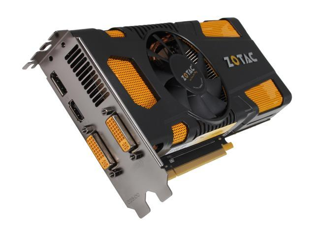 ZOTAC GeForce GTX 570 (Fermi) DirectX 11 ZT-50203-10M 1280MB 320-Bit GDDR5 PCI Express 2.0 x16 HDCP Ready SLI Support Video Card