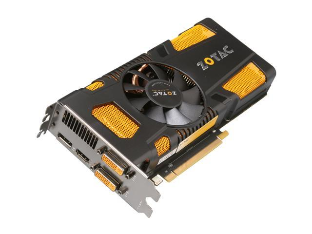 ZOTAC GTX 500 GeForce GTX 560 Ti - 448 Cores (Fermi) DirectX 11 ZT-50313-10M 1280MB 320-Bit GDDR5 PCI Express 2.0 x16 HDCP Ready SLI Support Plug-in Card Video Card