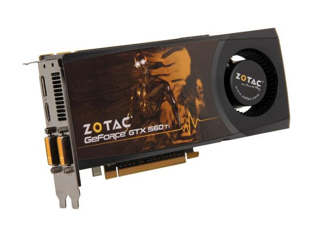 ZOTAC GeForce GTX 560 Ti (Fermi) DirectX 11 ZT-50306-10M 1GB 256-Bit GDDR5 PCI Express 2.0 x16 HDCP Ready SLI Support Video Card