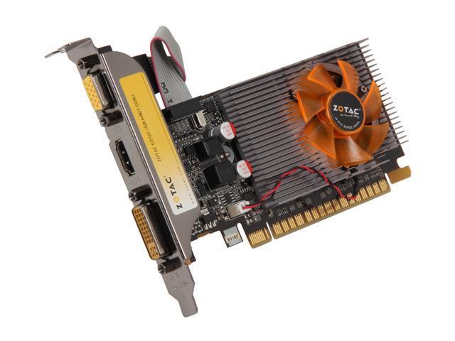 ZOTAC GeForce GT 520 (Fermi) DirectX 11 ZT-50604-10L 1GB 64-Bit DDR3 PCI Express 2.0 x16 HDCP Ready Low Profile Ready Video Card