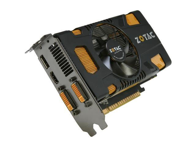 ZOTAC GeForce GTX 550 Ti (Fermi) DirectX 11 ZT-50401-10L-R 1GB 192-Bit GDDR5 PCI Express 2.0 x16 HDCP Ready SLI Support Video Card