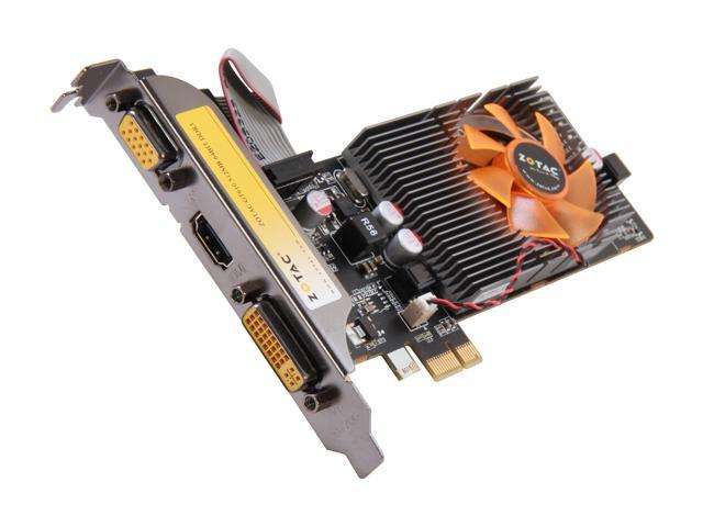 ZOTAC GeForce GT 610 DirectX 11 ZT-60605-10L 512MB 64-Bit DDR3 PCI Express x1 HDCP Ready Low Profile Ready Video Card
