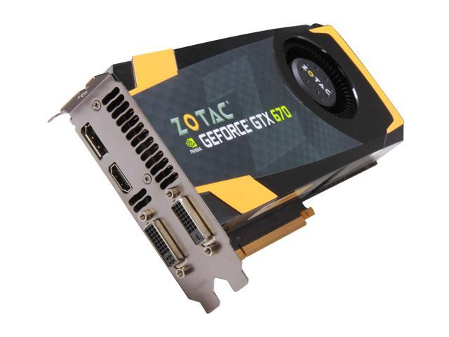 ZOTAC GTX 600 GeForce GTX 670 DirectX 11 ZT-60304-10P 2GB 256-Bit GDDR5 PCI Express 3.0 x16 HDCP Ready SLI Support Plug-in Card Video Card