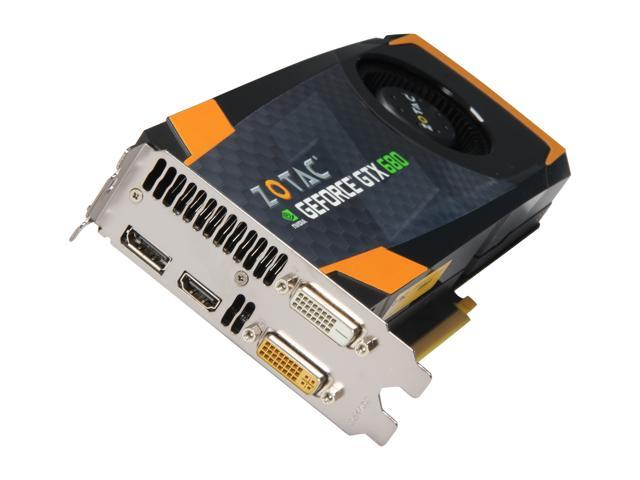 ZOTAC GTX 600 GeForce GTX 680 DirectX 11 ZT-60103-10P 4GB 256-Bit GDDR5 PCI Express 3.0 x16 HDCP Ready SLI Support Plug-in Card Video Card