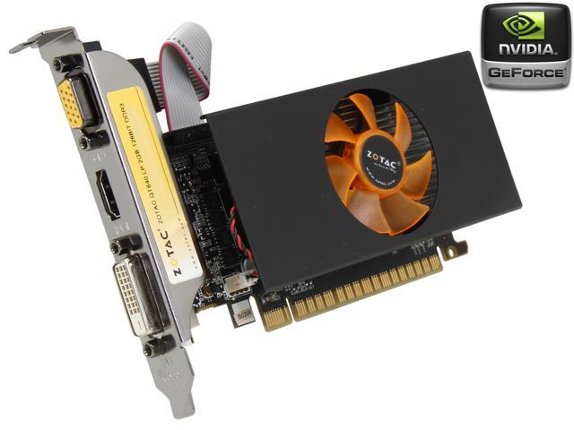 ZOTAC GeForce GT 640 DirectX 11.2 ZT-60210-10L 2GB 128-Bit DDR3 PCI Express 3.0 x16 HDCP Ready Low Profile Video Card