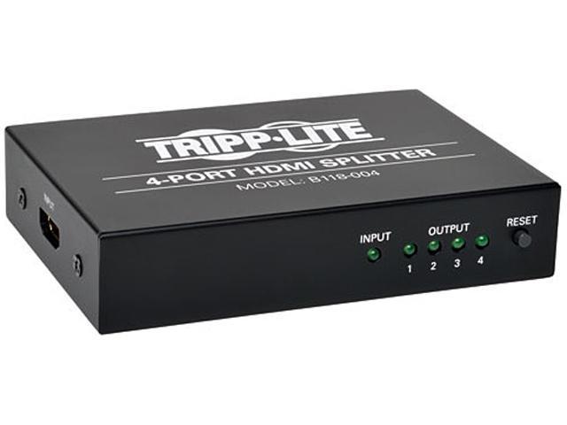 Tripp Lite 4-Port HDMI Splitter for Video and Audio, 1920x1200 / 1080p B118-004