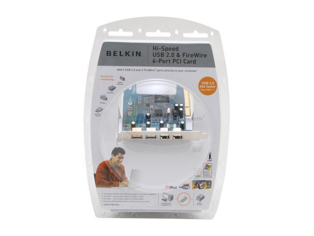BELKIN PCI to USB/1394 Card Model F5U508