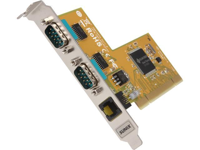 SUNIX 2-port RS-232 & Cash Drawer interface Universal PCI Serial Board Model CDK1037A