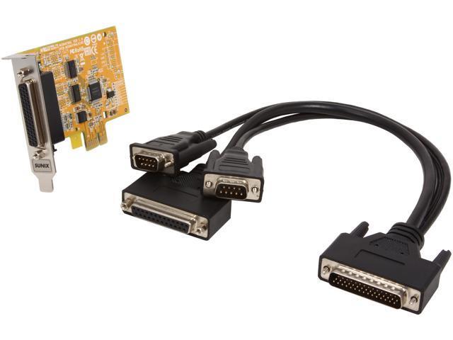 SUNIX 2-port RS-232 & 1-port Parallel PCI Express Low Profile Multi-I/O Board Model MIO6479AL+S