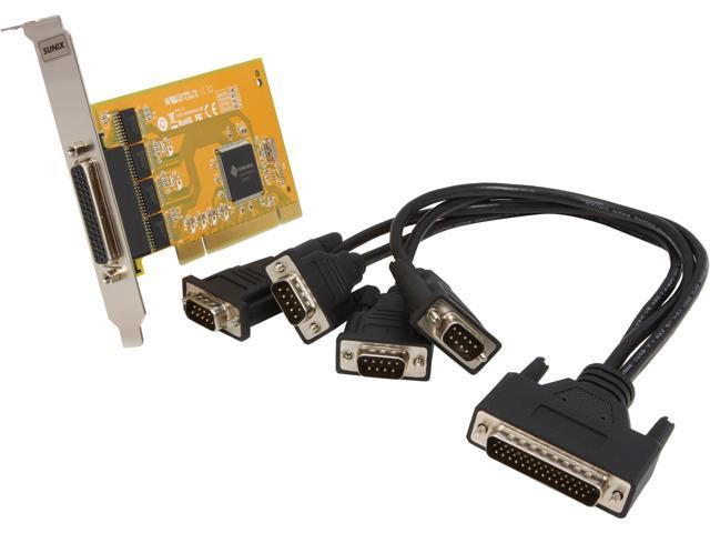 SUNIX 4-port RS-232 Universal PCI Serial Board Model SER5056A+L