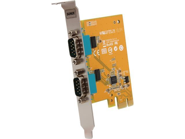 SUNIX 2-port RS-232 PCI Express Board Model SER6437A