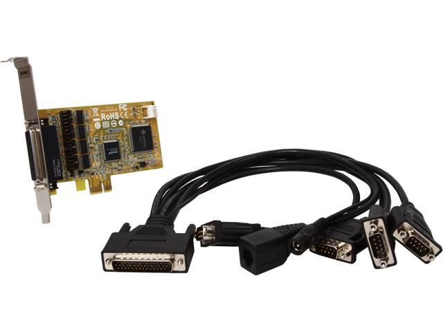 SUNIX 4-Port RS-232 + 1-Cash Drawer & 1-DC Jack PCI-E Card CDK1456P+L