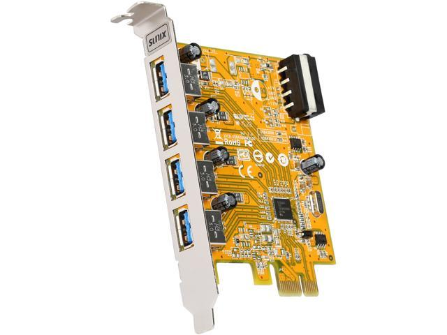 SUNIX 4-Port USB 3.0 PCI-E Card (w/ 4-Pin Molex Power) Model USB4300N