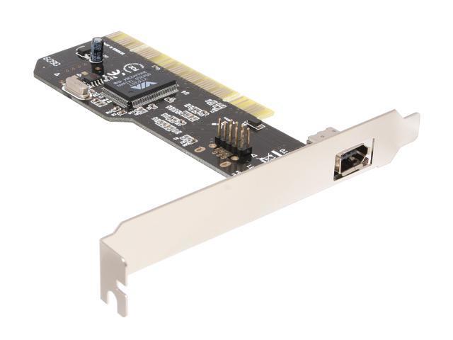 SYBA IEEE 1394a FireWire PCI Card with Internal 9-pin Header Model SD-VIA-FW1E1H