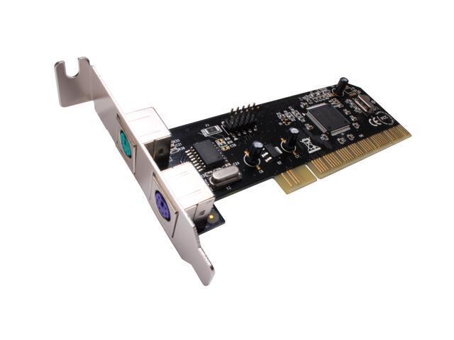 SYBA PCI Low Profile USB 2.0 Internal Header + Dual PS2 Card Model SD-LP-UPS2