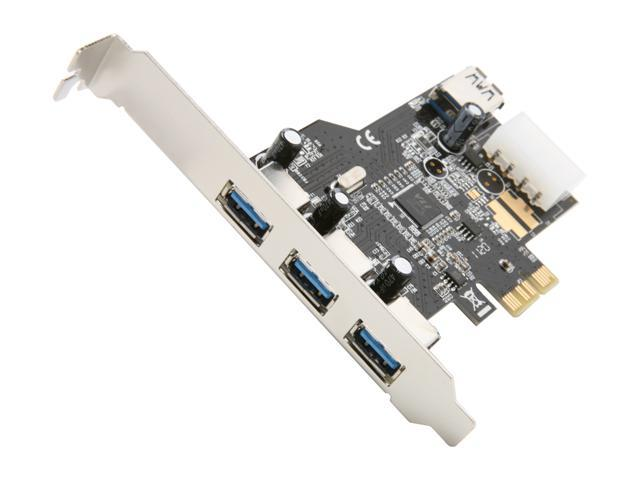 SYBA USB 3.0 PCI-e Card with HDD Power Connector (3 + 1 Ports) Model SD-PEX20080