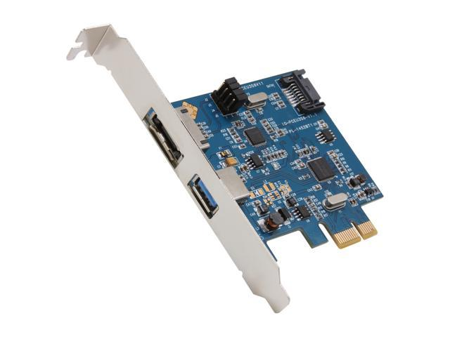 SYBA Combo Ports USB 3.0 + SATA 6G PCI-e Card,  Switchable SATA Port Model SY-PEX50043
